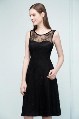 REBEKAH | Quinceanera Knee Length Sleeveless Lace Dama Dresses_5