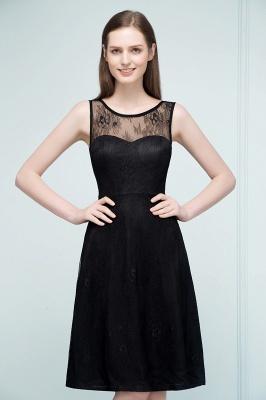 REBEKAH | Quinceanera Knee Length Sleeveless Lace Dama Dresses_4