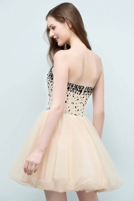 SIBYL | Quinceanera Short Sweetheart Strapless Tulle Dama Dresses with Crystals_3