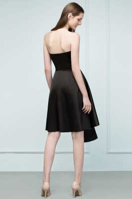 REA | Quinceanera Strapless Short Ruffles Black Dama Dresses_3