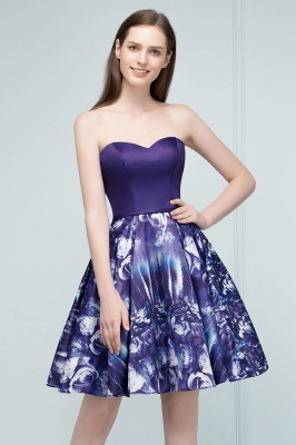 RICARDA | Quinceanera Strapless Sweetheart Short Print Dama Dresses_6