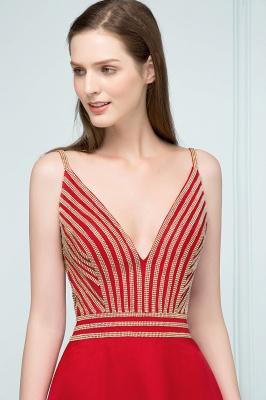SUZAN | Quinceanera V-neck Spaghetti Short Beading Tulle Dama Dresses_6