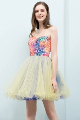 SHONA | Quinceanera Strapless Sweetheart Short Sequined Tulle Dama Dresses_4