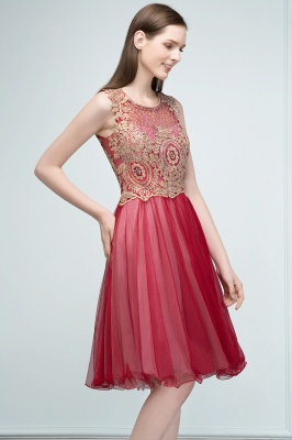 RITA | Quinceanera Sleeveless Knee Length Appliques Tulle Dama Dresses with Beads_4