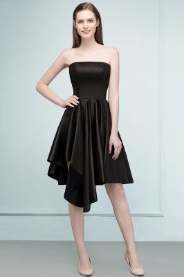 REA | Quinceanera Strapless Short Ruffles Black Dama Dresses_1
