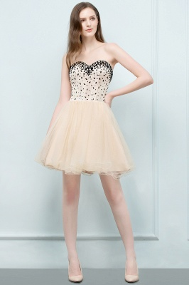 SIBYL | Quinceanera Short Sweetheart Strapless Tulle Dama Dresses with Crystals_4