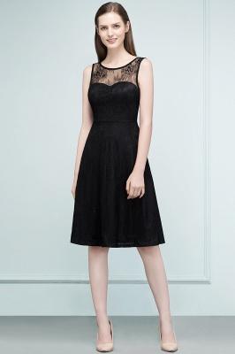 REBEKAH | Quinceanera Knee Length Sleeveless Lace Dama Dresses_1