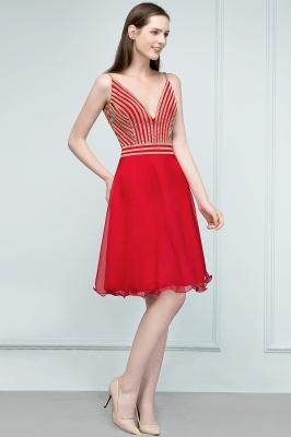 SUZAN | Quinceanera V-neck Spaghetti Short Beading Tulle Dama Dresses_7