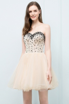 SIBYL | Quinceanera Short Sweetheart Strapless Tulle Dama Dresses with Crystals_1