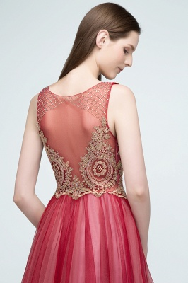 RITA | Quinceanera Sleeveless Knee Length Appliques Tulle Dama Dresses with Beads_2