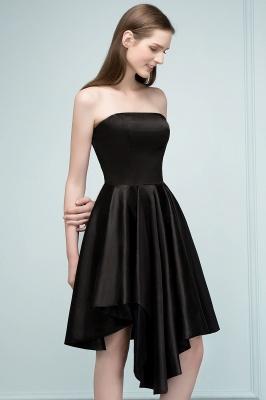 REA | Quinceanera Strapless Short Ruffles Black Dama Dresses_9