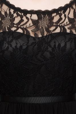 Vestidos de dama de honor de gasa con cuello en V corto y escote redondo_11
