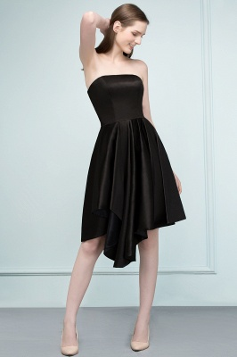 REA | Quinceanera Strapless Short Ruffles Black Dama Dresses_8
