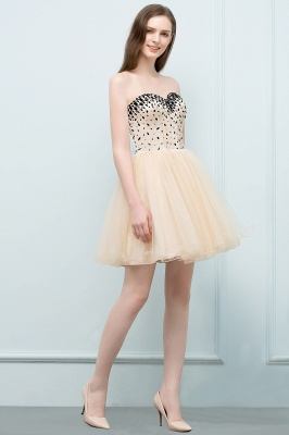 SIBYL | Quinceanera Short Sweetheart Strapless Tulle Dama Dresses with Crystals_8
