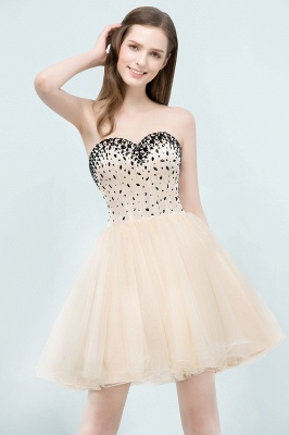 SIBYL | Quinceanera Short Sweetheart Strapless Tulle Dama Dresses with Crystals_5