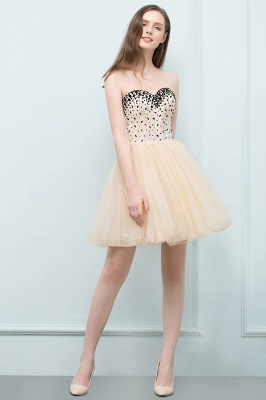SIBYL | Quinceanera Short Sweetheart Strapless Tulle Dama Dresses with Crystals_7