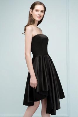 REA | Quinceanera Strapless Short Ruffles Black Dama Dresses_5