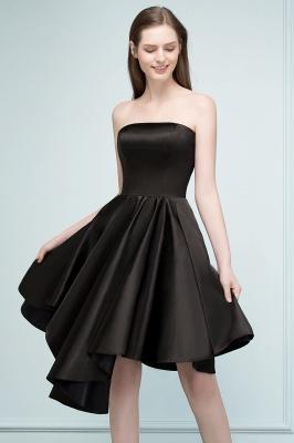 REA | Quinceanera Strapless Short Ruffles Black Dama Dresses_6