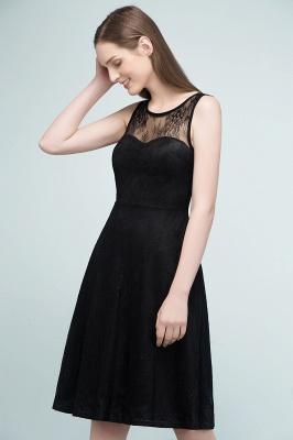 REBEKAH | Quinceanera Knee Length Sleeveless Lace Dama Dresses_8