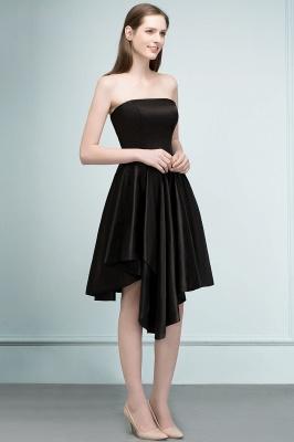 REA | Quinceanera Strapless Short Ruffles Black Dama Dresses_4