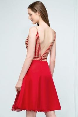 SUZAN | Quinceanera V-neck Spaghetti Short Beading Tulle Dama Dresses_3