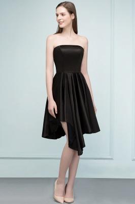 REA | Quinceanera Strapless Short Ruffles Black Dama Dresses_7