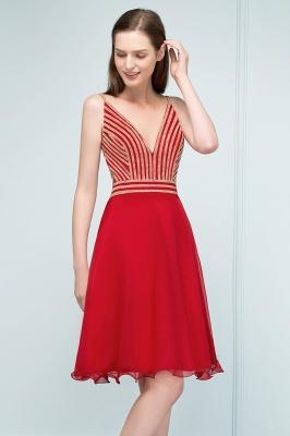 SUZAN | Quinceanera V-neck Spaghetti Short Beading Tulle Dama Dresses_1