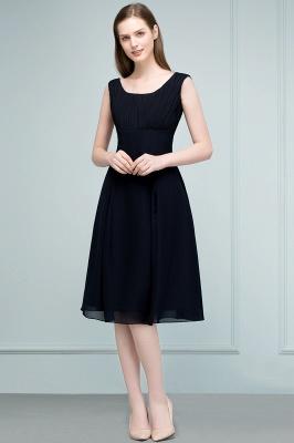 SUZANNE | Quinceanera Tea Length Sleeveless Ruffled Chiffon Dama Dresses_5