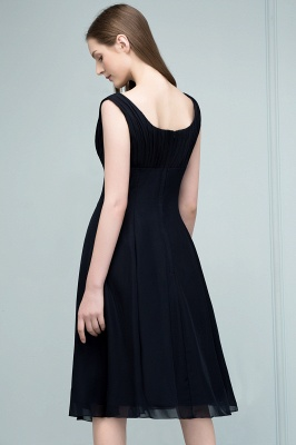 SUZANNE | Quinceanera Tea Length Sleeveless Ruffled Chiffon Dama Dresses_3
