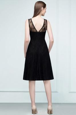 REBEKAH | Quinceanera Knee Length Sleeveless Lace Dama Dresses_3