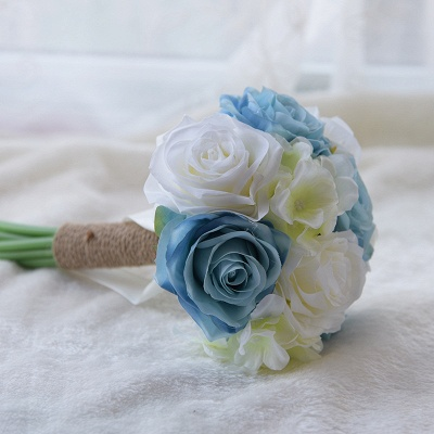 Real Touch Artificial Peony and Rose Quinceanera Bouquet_4