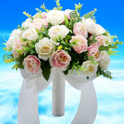Artificial Rose Quinceanera Bouquet in Two Colors_2
