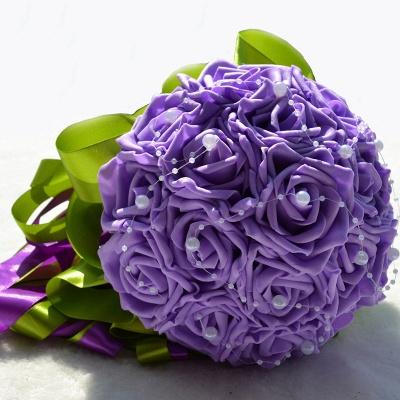 Maravilloso Seda Rose Múltiples colores ramo de la boda_8