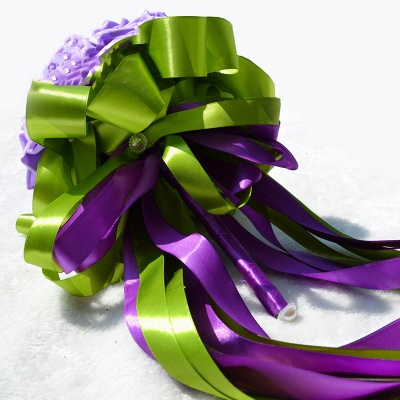 Maravilloso Seda Rose Múltiples colores ramo de la boda_6