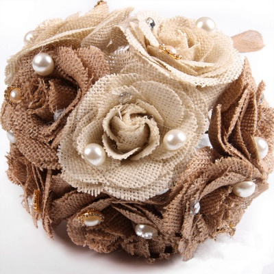 Brown Bouquet for Quinceanera with ribbon strings_6