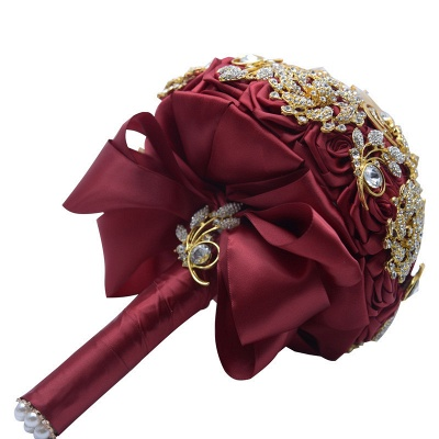 Cristal de lujo que rebordea el ramo de Rose para casarse_6