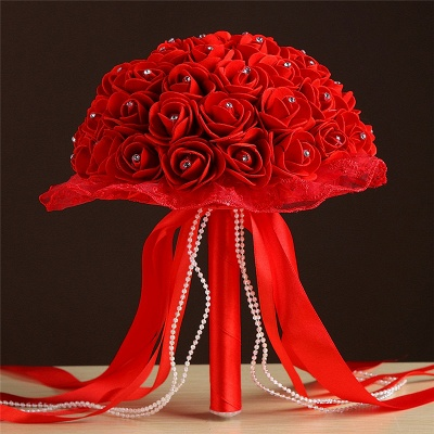 Grand Silky Rose Bouquet for Quinceanera in Multiple Colors_5