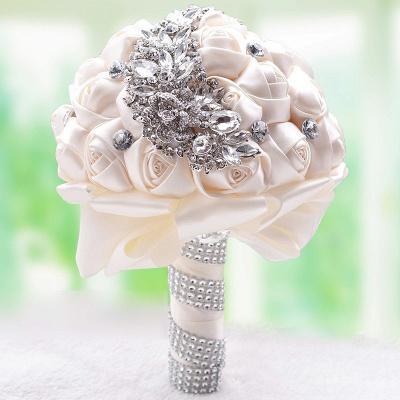 Slik Rose Beading Quinceanera Bouquet in Multiple Colors_10