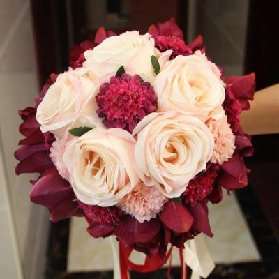 Ramo de novia de seda y orquídeas artificiales Rose de seda_8