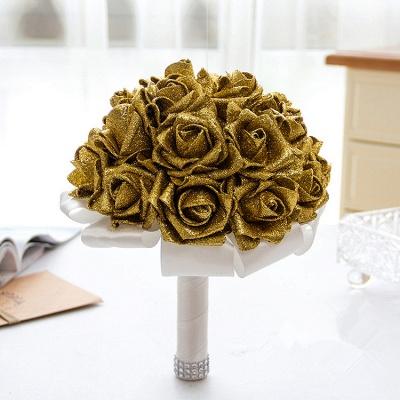Sparkle Multiple Colors Rose Quinceanera Bouquet_4
