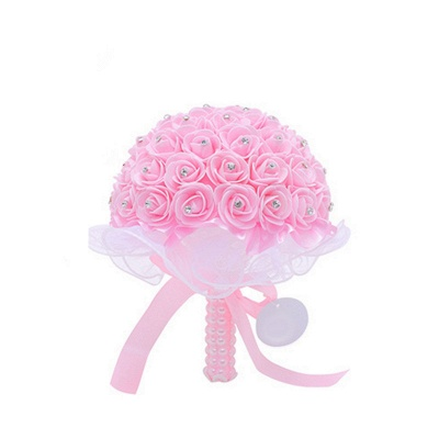 Feminine Multiple Colors Quinceanera Bouquet with Ribbons_1