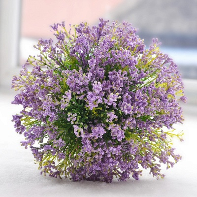 Luxury Real Touch Artificial Lavender Quinceanera Bouquet_4