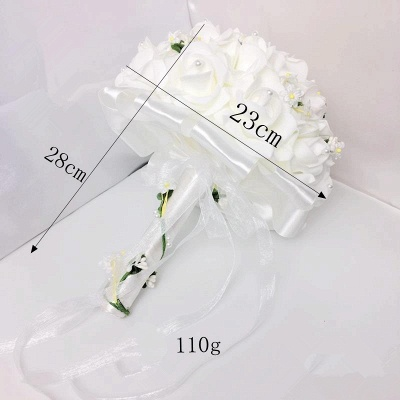 White Rose Quinceanera Bouquet with Small Flowers_6