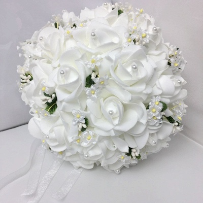 White Rose Quinceanera Bouquet with Small Flowers_1