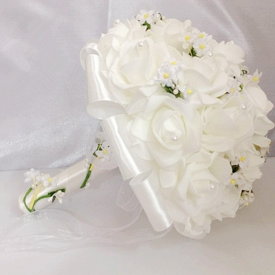 White Rose Quinceanera Bouquet with Small Flowers_5