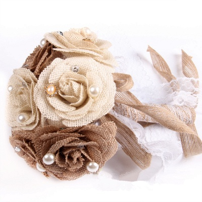 Brown Bouquet for Quinceanera with ribbon strings_5