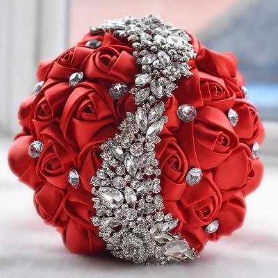 Slik Rose Beading Quinceanera Bouquet in Multiple Colors_4