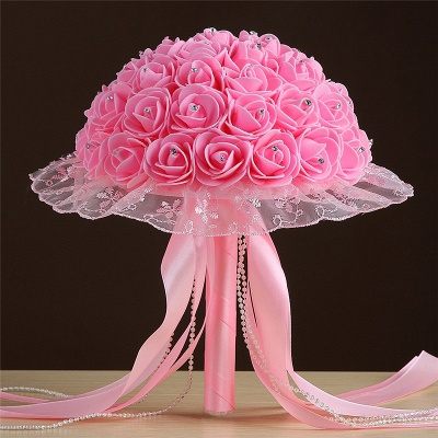 Grand Silky Rose Bouquet for Quinceanera in Multiple Colors_2