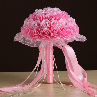 Grand Silky Rose Bouquet for Quinceanera in Multiple Colors_3