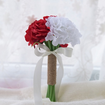 Real Touch Artificial Peony and Rose Quinceanera Bouquet_3